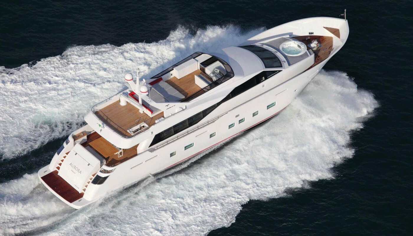 Aurora | Tecnomar 30.60m | 2011 | 12 guests | 5 cabins
