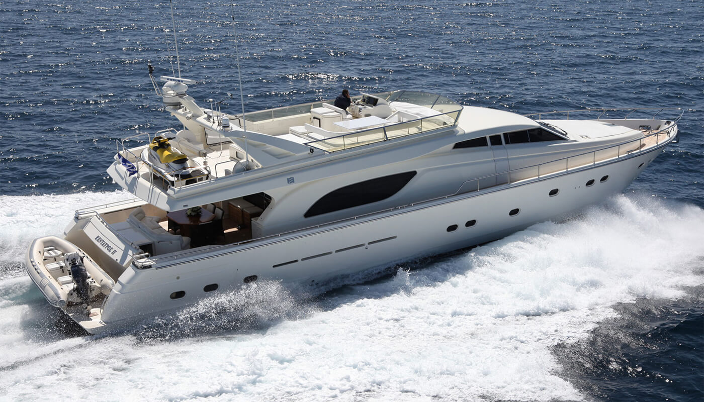 Kentavros II |Ferretti 24.38m | 2000 / 2012 | 8 guests | 4 cabins